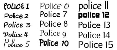 Police d'écriture pour body